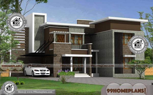 Modern Contemporary House Design With Floor Plan with Low Cost Roofs