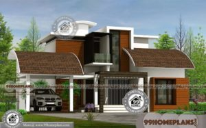 Modern Contemporary House Plan with Two Story Stylish Grand Designs
