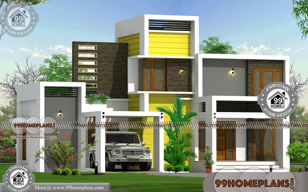 Modern contemporary house plans designs with 2 floor for Simple model house design