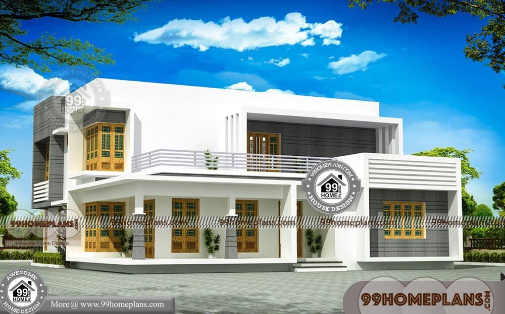 Modern Contemporary House Plans Kerala with Two Floor Low ...