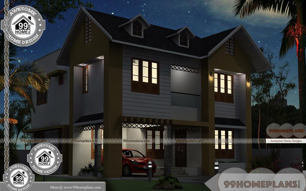 Royal Home Designs: Modern Double Storey House Plans With Luxurious And Royal