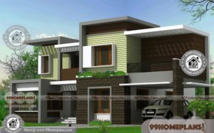 Modern Flat Roof House Plans with Double Storied Awesome Collections