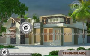 Modern One Story Home Plans with Stylish Flat Roof Luxury Collections