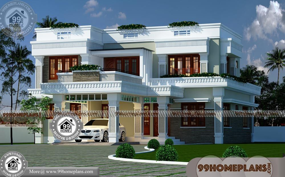 Modern Small Two Story House Plans With Flat Roof Cheap