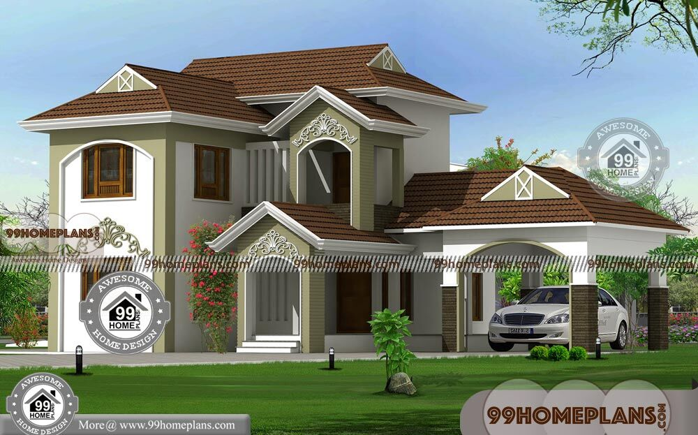 Most beautiful house in kerala with two floor grand for Most beautiful house in kerala