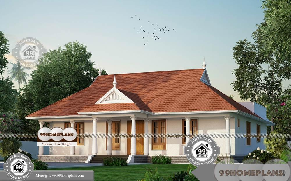 Narrow One Story House Plans With Traditional Ethnic Touch Home Design