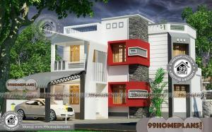 New Construction House Plans with 2 Floor Box Type Modern Home Plans