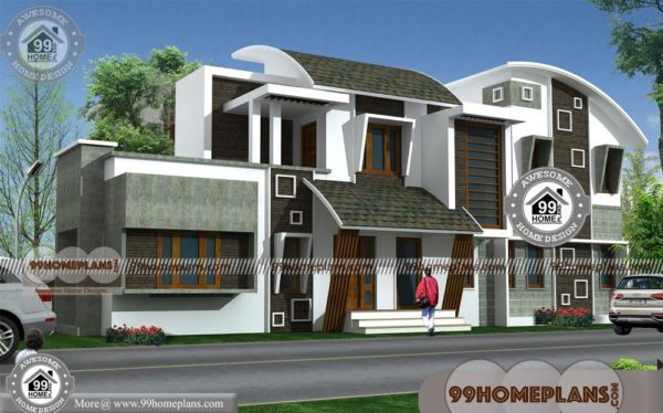 New Contemporary House Designs In Kerala With Double Story