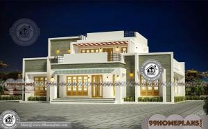 New House Design Box Type with Double Floor Modern Low Cost Plans