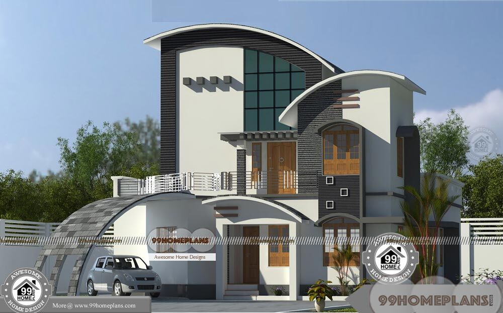 New modern house designs in kerala with unique variety for Variety home designs