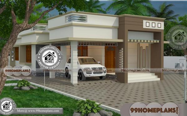 One Floor Contemporary House Design With Low Economical Modern Plan