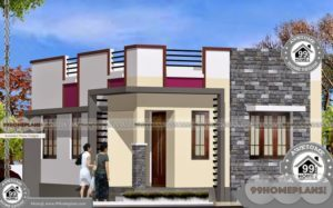 One Floor Modern House Plans with Simple Low Budget Home Designs