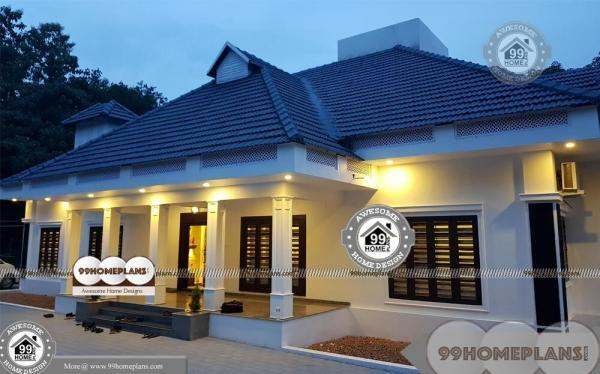 one level home designs and spacious royal kerala house floor plans - One Level Home Designs