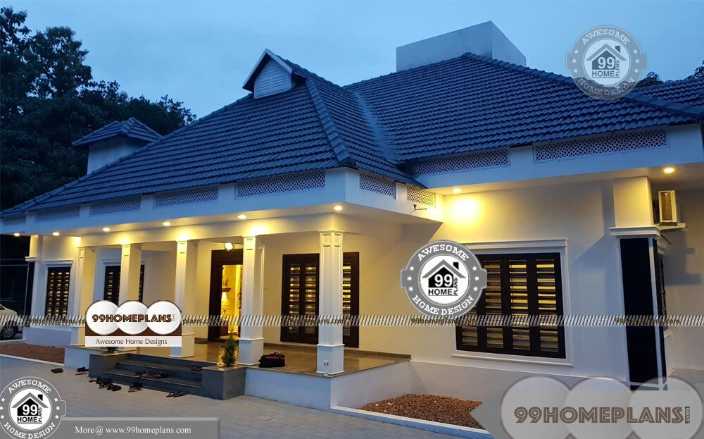 One Level Home Designs And Spacious Royal Kerala House