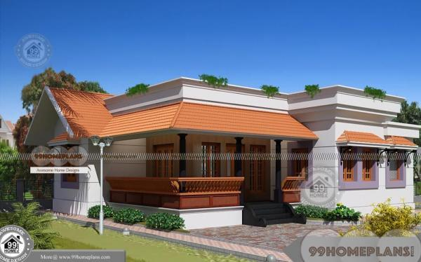 one level home plans with simple and stylish low budget home designs - One Level Home Designs
