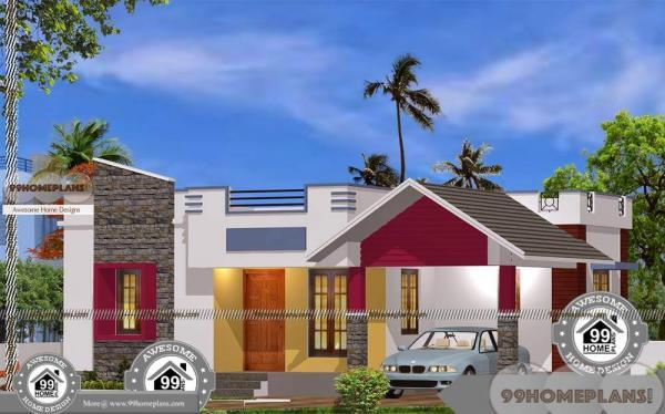 One level modern house plans with 1450 sq ft home design for Plan collection modern house plans