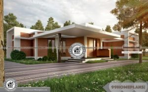 One Story Brick House Plans with Large and Latest Box Type Home Model