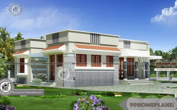 One Story Modern Farmhouse Plans With Flat Type Home Floor Designs