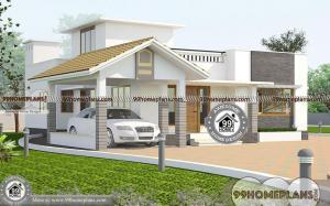 One Story Small House Plans with Single Story Simple Home Designs