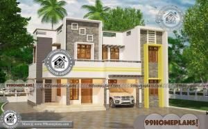 Online House Plan Design Free with 2 Story Modern Flat Type Home Plans