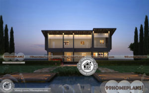 Popular Small House Plans with Double Story Luxury Bungalow Designs