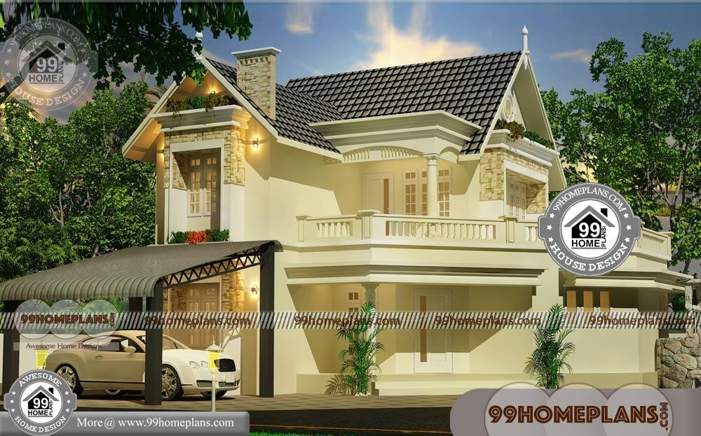 Ready made house plan for 3bhk with 2 story traditional for Pre made house plans