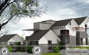 Rustic Contemporary Home Plans with Slopped Roof Decorative Plan Idea