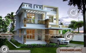 Simple 3 Bedroom House Plan & Home Collections | Free Exterior Design
