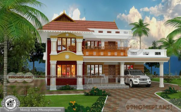 Simple House Design With Floor Plan Double Story Traditional Homes