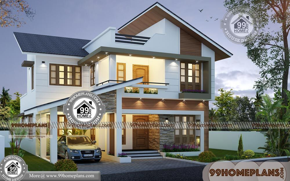 Simple two story house plans with less expensive gorgeous for Simple two story house