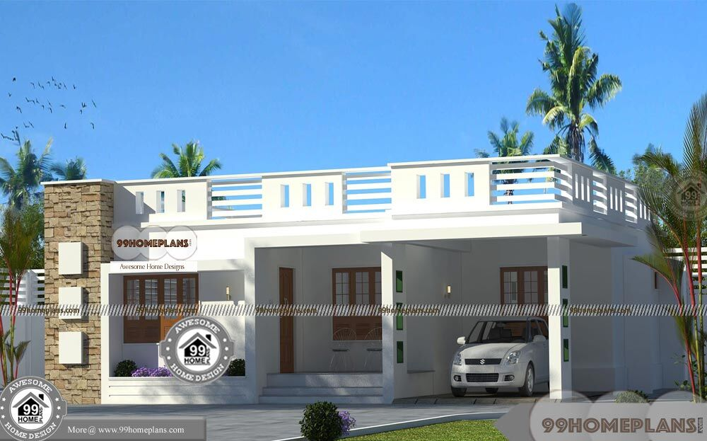 Single story contemporary house plans with amazing low Amazing one story homes