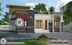 Single Story Modern House Plans with Low Budget Stylish Exterior Design