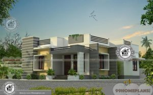 Single Story Narrow Lot House Plans with Small Simple Model Home Plan