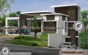 Small Contemporary House Plans In Kerala with 2 Floor Flat