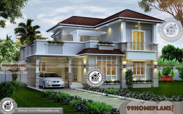 Small House Plans With 4 Bedrooms & Gorgeous Exterior Design Ideas