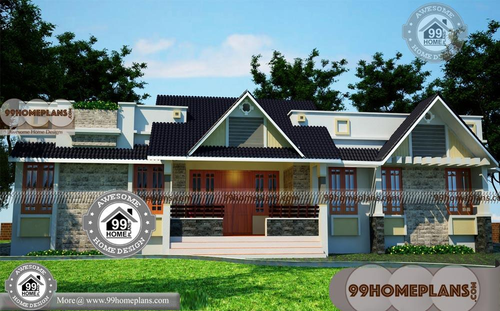 Small Single Story House Plans With Kerala Style Traditional Home Design
