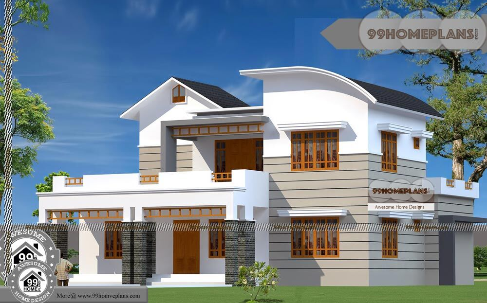 Small Two Story Floor Plans And Wide Space Balcony Home