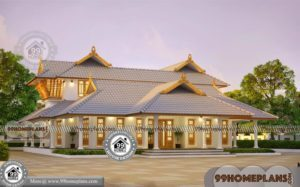 South Indian Bungalow Designs with Traditional Illam Model Plans Online