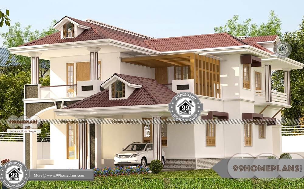 South Indian Style Home Design with Typical Decorative Plan of Houses