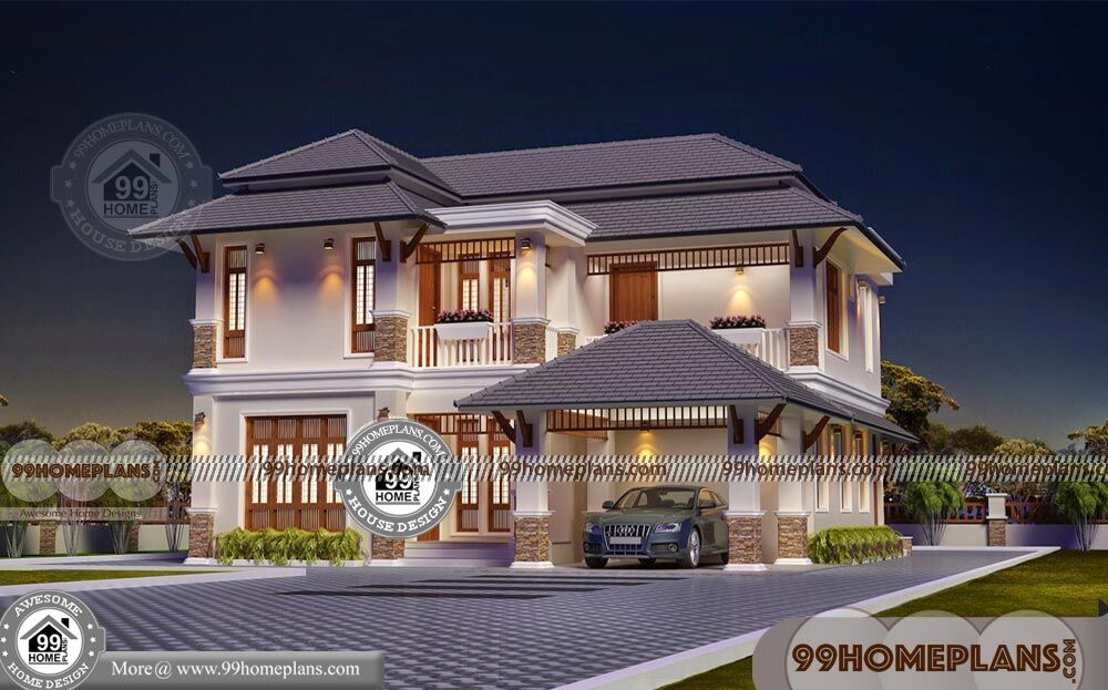 Tamilnadu Traditional House Designs With Two Story Modern