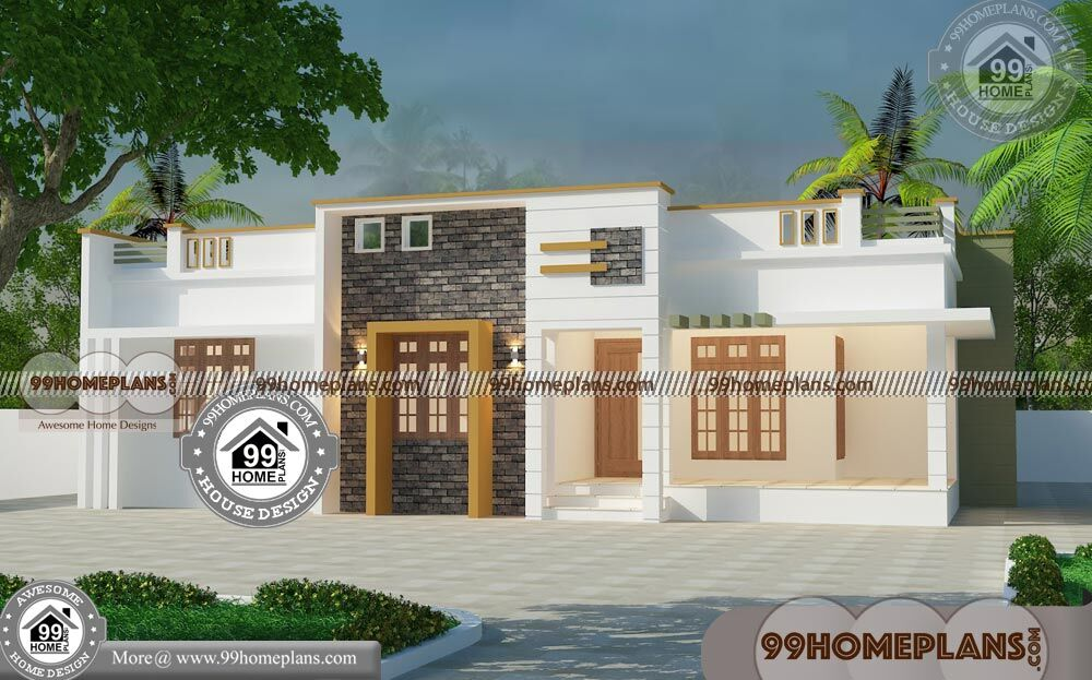 Three Bedroom Modern House Plans with 1 Floor Grand ...