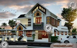Traditional Home Architecture with Two Story New Kerala Style Designs