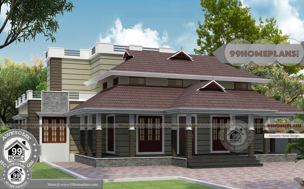 Traditional Home Elevations With 2 Story Flexible Dream