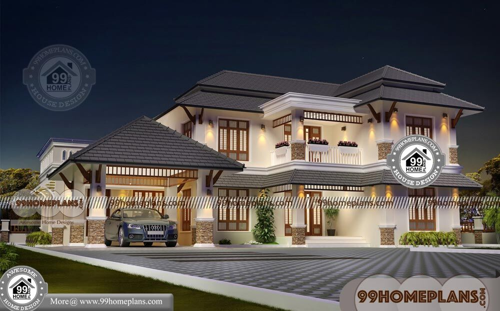 Traditional Home Plans With Front Porch Of Two Floor Large House Design