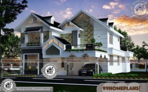 Traditional Homes Plans with Best Two Story Modern Stylish Collections