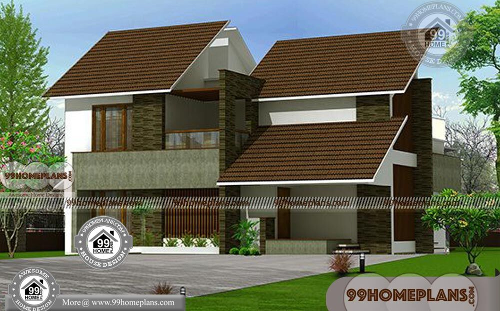 Traditional House Plans With 2 Floor Sloping Roof Kerala Style Home Idea