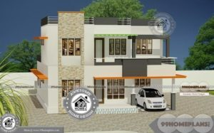 Two Floor Building Design with Narrow Lot Modern House Plan Collections