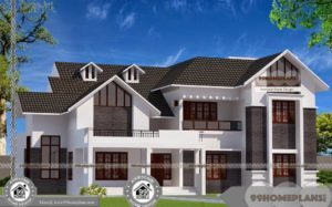 Two Storey 4 Bedroom House Plans with Standard and Executive Designs