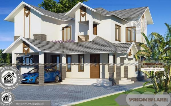 Two Storey Beach House Plans And Spacious Balcony Railing