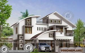 Two Story Home Designs & House Exterior Collection | Best Modern Plans